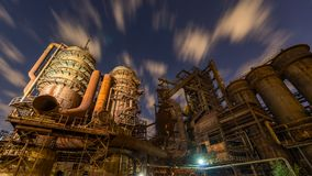 老钢铁生产厂Vitkovice 免版税库存照片