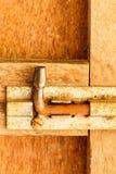 老钢闩 免版税库存图片