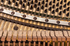 老钢琴-细节 库存照片
