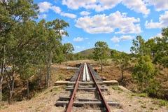 老铁路在Gayndah 免版税库存图片