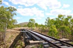 老铁路在Gayndah 库存照片