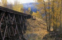 老铁路支架 免版税库存图片