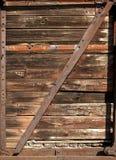 老铁路木无盖货车端 库存照片