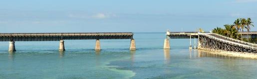 老铁路桥梁 免版税库存图片