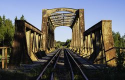 老铁路桥 图库摄影