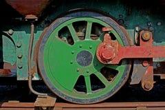 老铁路疯子轮子细节 免版税库存照片