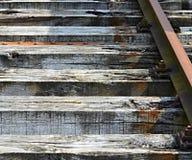 老铁路睡眠者的部分 免版税库存照片