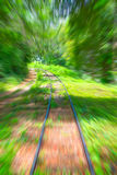 老铁路轨道 图库摄影