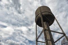 老铁路水塔 库存照片