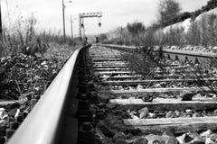 老铁路 免版税图库摄影