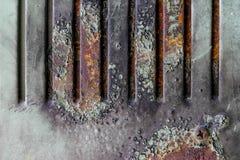 老铁锈金属难看的东西纹理背景困厄了墙纸 库存图片