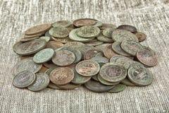 老铜币 免版税库存照片