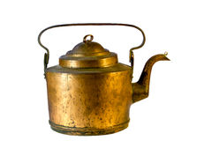 老铜水壶 免版税库存图片