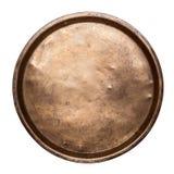 老铜盘子 免版税图库摄影