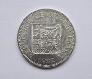 老银币,捷克斯洛伐克 免版税库存照片