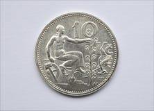 老银币-捷克斯洛伐克 免版税库存图片