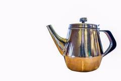 老银色茶壶 库存照片