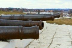 老铸铁大炮 图库摄影