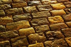 老铺的小的石头街道城镇 红场 莫斯科 免版税图库摄影