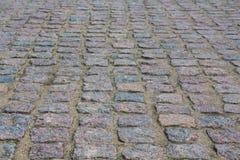 老铺的小的石头街道城镇 城堡路 图库摄影