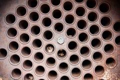 老锅炉管 免版税库存图片
