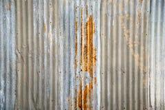 老锌板料氧化物 免版税库存图片