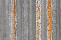 老锌板料,与生锈的纹理的金属板墙壁的背景纹理, 库存照片