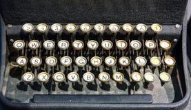 老键盘在计算机博物馆 库存图片