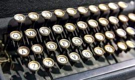 老键盘在计算机博物馆 免版税库存图片