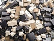 老键盘键 免版税图库摄影
