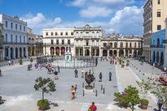 老镇中心在哈瓦那,古巴 图库摄影