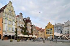 老镇中心在奥尔什丁(波兰) 免版税库存照片