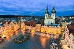 老镇中心在布拉格,捷克 库存图片