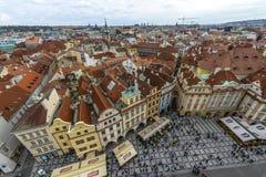老镇中心在布拉格,捷克 免版税图库摄影