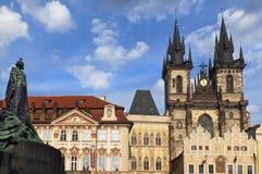 老镇中心在布拉格 免版税库存图片
