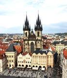 老镇中心布拉格 库存照片