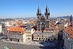 老镇中心视图,布拉格Czechia 库存图片