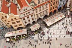 老镇中心顶视图在布拉格 免版税库存图片