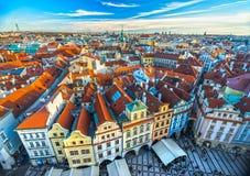 老镇中心,布拉格,捷克 免版税图库摄影