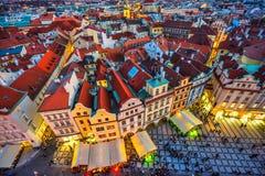 老镇中心,布拉格,捷克 免版税库存图片