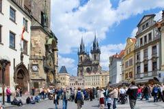老镇中心,布拉格(联合国科教文组织),捷克共和国 库存图片