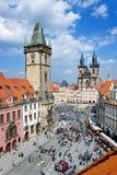 老镇中心,布拉格(联合国科教文组织),捷克共和国 库存照片