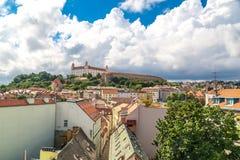 老镇全景都市风景视图在布拉索夫 图库摄影