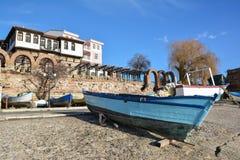 老镇内塞伯尔,保加利亚看法  库存图片