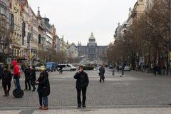 老镇和新市镇-瓦茨拉夫广场之间的连接 库存图片