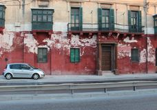老镇和现代汽车 库存图片