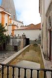 老镇和辛特拉,葡萄牙,欧洲市政大厦  免版税库存图片