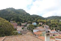 老镇和辛特拉,葡萄牙,欧洲市政大厦  库存图片