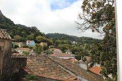 老镇和辛特拉,葡萄牙,欧洲市政大厦  免版税图库摄影