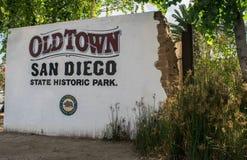 老镇圣地亚哥国家历史公园,加利福尼亚 免版税图库摄影